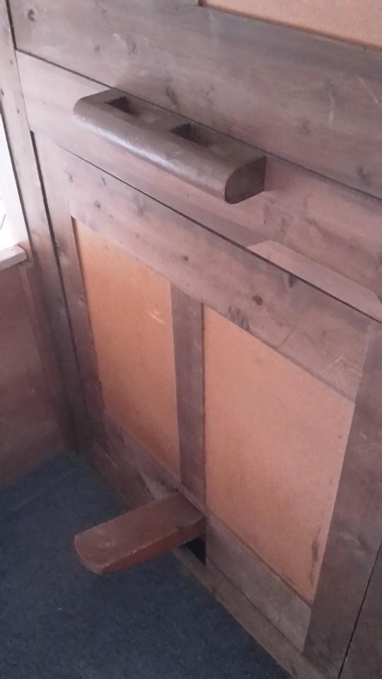 Trap bediening van het orgel